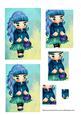 Little Girl Blue Hair Pyramid
