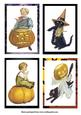 Vintage Halloween 4 of A6 Card Fronts