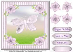Sweet Butterfly Card Topper & Decoupage