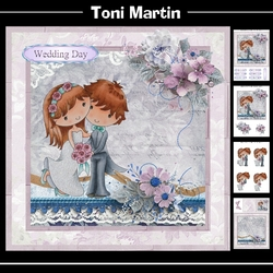 Wedding Couple 8x8 Card Mini Kit & Decoupage