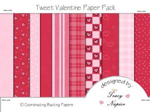 Tweet Valentine Backing Papers