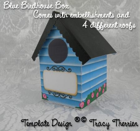 Blue Birdhouse Gift Box
