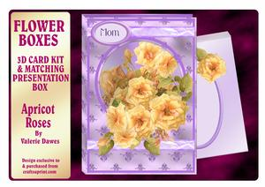 Flower Boxes 3D Card Kit - Apricot Roses
