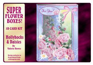 Super Flower Boxes 3D Kit - Hollyhocks & Daisies