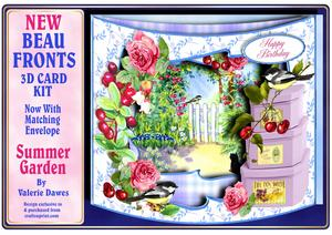 New Beau Fronts 3D Card Kit - Summer Garden