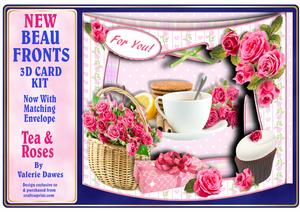 New Beau Fronts Card Kit - Tea & Roses