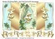 Golden Christmas Bells - Duo Fold Card with Decoupage