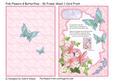 Pink Flowers & Butterflies - 3D Frame Sheet 1 Card Front