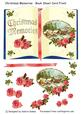 Christmas Memories - Book Sheet Card Front with Decoupage