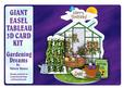 Giant Easel Tableau 3D Card Kit - Gardening Dreams