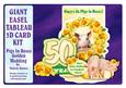Giant Easel Tableau 3D Card Kit-pigs in Roses Golden Wedding