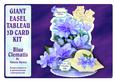 Giant Easel Tableau 3D Card Kit - Blue Clematis