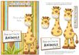 Giraffe Photo Card Front with Decoupage