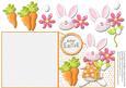 Hoppy Easter Girl Bunny Over the Edge Card