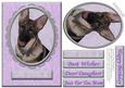 German Shepherd Purple/silver Various Occasion Cut & Fold