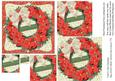 Pointsettia Merry Christmas Wreath Pyramid Card Front