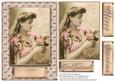 Just for You Vintage Lady with Flowers Various Sentiments #2