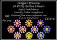 10 Pretty Button Flowers Digital Embelishments