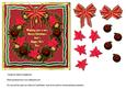 Pointsettia Christmas Wreath Quick Card Front