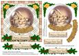 Vintage Snowy Village in a Globe Christmas Card Front