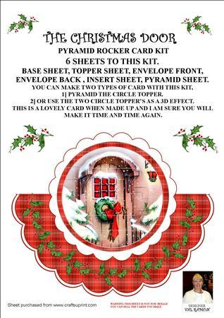 The Christmas Door - Pyramid Rocker Card Kit