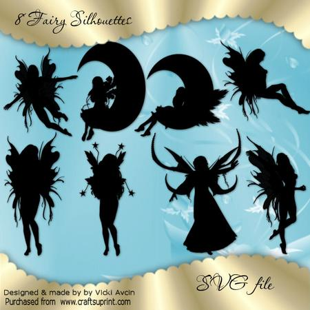 Fairy Silhouettes SVG