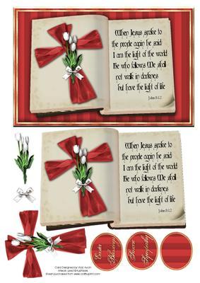 Ribbon Cross Easter Card