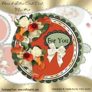 Orange Lily and White Roses Circle Mini Kit