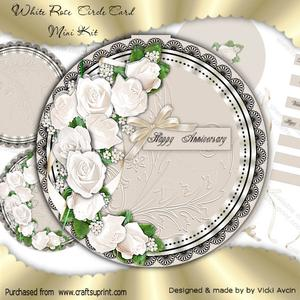 White Rose Circle Mini Kit