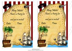Pirate Invitation