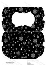Christmas Black and White Snowflake Pillow Box
