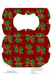 Christmas Ribbons Pillow Box