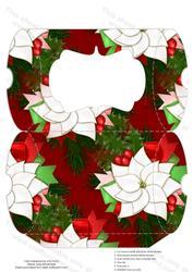Christmas Pointsettia Pillow Box
