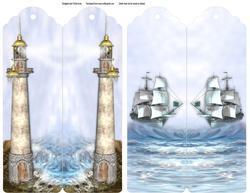 Ocean Scene Double Sided Bookmark