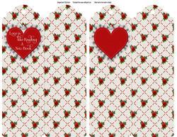 Ruffled Lace Heart Folded Bookmark