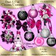 Black and Pink Christmas Embellishments