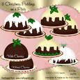 Christmas Pudding on a Plate