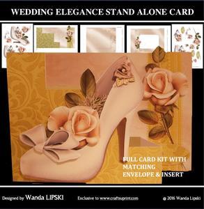 Wedding Elegance Stand Alone Card