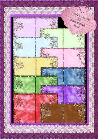 A5 Card Blanks - Swirl & Glitter Pastel & Darks