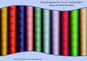 Daisy Background Kit - Embossed Effect