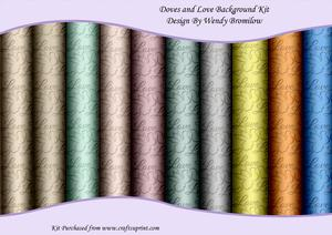 Doves and Love Background Kit - Embossed Effect