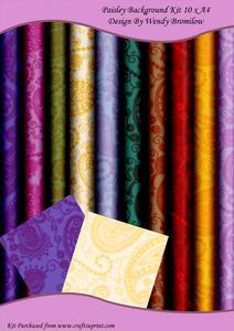 Paisley Patterned Background Kit
