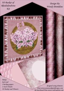 Rhododendron Flowers in Basket Kit