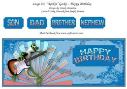 Rockin Gecko Happy Birthday Large Dl