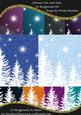 A4 Background Kit Christmas Trees with Stars