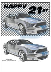 Rally Car Masculine Topper 21st