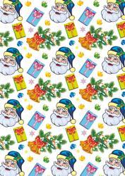 Santa & Presents Paper for Cards Lrg