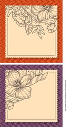 Floral Card Front / Topper Blank 1