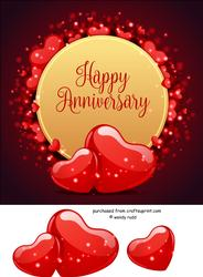Love Heart Card Front / Topper Anniversary