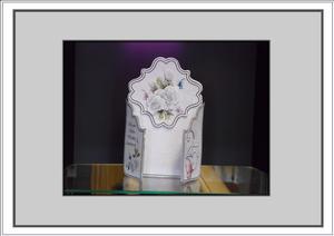 Silver Wedding Trifold Card